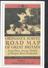 Literature Postcard - Ordnance Survey Road Map of Great Britain RR1704