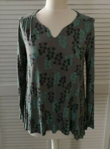 White Stuff Grey Mix Patented Long Sleeved Top Size 12