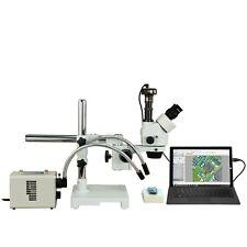 Omax 2.1X-270X 10Mp Digital Zoom Stereo Boom Microscope+50W Led Gooseneck Lights