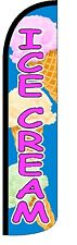 Ice Cream Windless Standard Size Polyester Swooper Flag Sign Banner