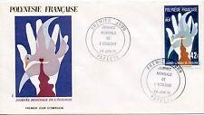 FDC / PREMIER JOUR POLYNESIE / TIMBRE N°  109 JOURNEE DE L'ECOLOGIE PAPEETE 1976