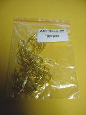 Aberdeen Gold Hooks Size 8 Qty 100