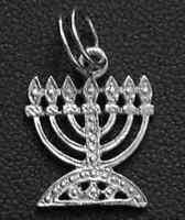 COOL menorah Hanukkah Candle Jewish Pendant Charm silver 925