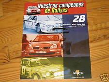 FASCICULE 28E CAMPEONES DE RALLYES BOOKLET RENAULT 5 MAXI TURBO 4X4