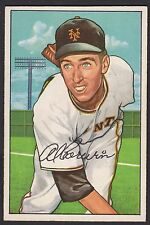 1952 Bowman #121 Elmer Nathan Al Corwin New York Giants baseball card