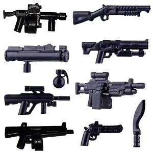 Custom Weapons shotgun pack + M249 Para + Aug + more to fit LEGO® Mini Figures