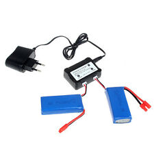 2x 7.4V 2500mAh 25C Lipo Batteries+2in1 Charger Kit For Syma X8W X8C X8G Drone