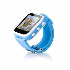 Anti-lost Kids Smart Watch LBS Tracker SOS Call SIM Card For Android iPhone Blue
