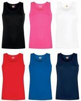 Womens Vest Tops Tank Top Cotton Vest Ladies Plain T Shirt Vest NEW
