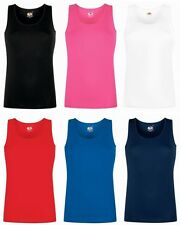 Womens Vest Tops Tank Top Cotton Vest Ladies Plain T Shirt Vest NEW