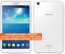 SAMSUNG TAB 3 8.0 T311 16gb Dual-Core 5.0mp Camera Wifi Gps Android Tablet 3g