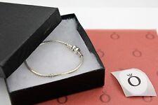 "Genuine Pandora Sterling Barrel Clasp Bracelet 7.5"" 590702HV-19 with box shown"