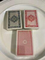 3 Vintage  Playing Cards Deck  Sealed