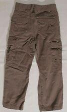 Sonoma Lifestyle chocolate brown cargo pants kids elastic adjust waist sz 7