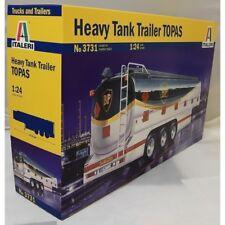 Italeri 1:24 3731 BP HEAVY TANK TRAILER - TOPAS  Model Truck Kit