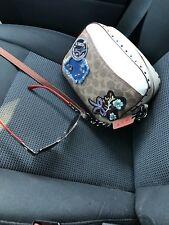 Coach Camera Bag 1941 With Patches and Rivets MSRP 350.00