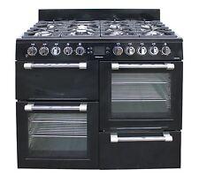 Leisure CK100F232K 100cm Dual Fuel Range Cooker 2 Ovens Gas Hob Black #2084