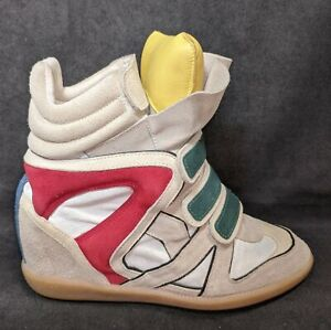 Isabel Marant BEKETT Multicolor Suede Leather Wedge Sneaker 39 Limited Edition