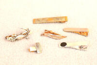 Tie Bar Lot Vintage Mens Jewelry Estate Drawer FInd Mixed Lot Unusual ASIS  ZI