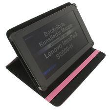 Funda para Lenovo IdeaPad s6000-h Book Style Tableta Protectora Soporte Rosa