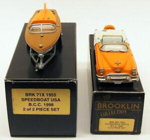 Brookin 1/43 Scale BRK39X BRK71X - 1953 Oldsmobile Fiesta & 1955 Speedboat Set