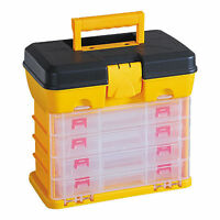 DIY Storage Tool Box Carry Case 4 Drawers & Organiser Dividers Utility fish tack