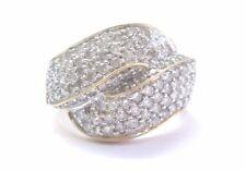 Fine Round Cut Diamond Criss Cross Bypass Yellow Gold Jewelry Ring 14KT 2.00Ct