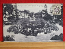 Fotokarte - Hongkong - Fountain in the Public Garden - gel 1910
