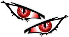 Par De Mal Ojos Ojo Iris Rojo Coche Moto Casco Drone Quad Pegatina 50x25mm