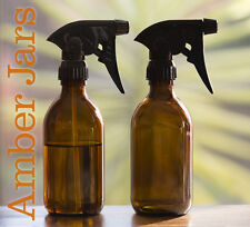 2 x 300ml Amber Glass Bottle with Quality General Purpose Trigger Spray