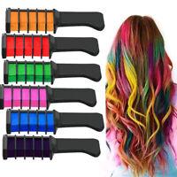 10x Color Hair Highlight Chalk Dye Temporary Comb DIY Disposable Kit Halloween