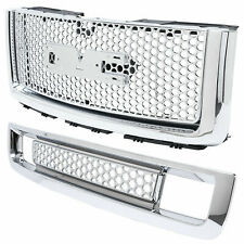 New Body style Front Bumper Upper Grill + Lower Grille For 07-13 Gmc Sierra 1500 (Fits: Gmc)