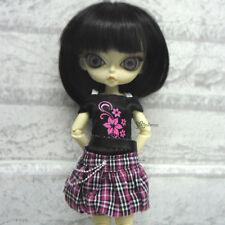 Blythe Momoko Hujoo Berry Pure Neemo Obitsu Outfit Low Waist Skirt + Tee FLOWER