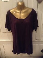 H&M Linen Dark Red Burgundy Short Top Large AWAY 29-10 - 8-11th NO POSTING