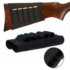 5 Shots Shotgun Ammo Carrier Buttstock Belt Bullet Holder Shell Tactics Hunting