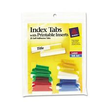 Avery Index Tabs With Laser Printable Inserts - 16219