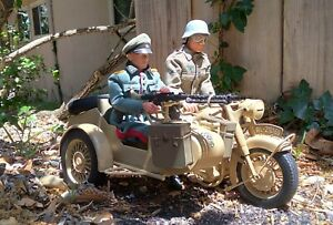 1:6 Scale 21st Century WWII German Motorcycle & Sidecar, figures not included
