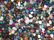 500 Carat Lots of Size #4 Tumbled Polished Gemstones + A FREE Faceted Gemstone