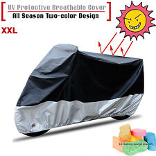 Large Waterproof Outdoor UV Protector Rain Dust Motorbike Motorcycle Cover XXL
