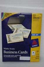 Avery 8376 Business Cards 2 X 350 Matte Ivory 250 Count