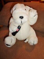 "Polar Bear Coca-Cola Brand Plush 7"" Sitting Stuffed 1996 VTG plastic Coke Bottle"