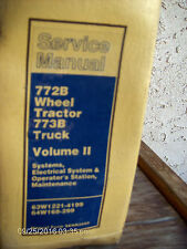 CAT Caterpillar 772B Wheel Tractor 773B Truck Volume II SERVICE Repair Manual