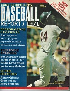 1971 Cord Sportfacts Baseball Report magazine Hank Aaron, Atlanta Braves Fr/Pr