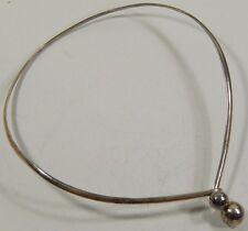 Vtg Sterling Silver Modernist Ball Collar Choker Necklace