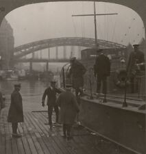 Sir Douglas Haig Lands From Our Motor Boats Patrolling The Rhine. WW1 Stereoview
