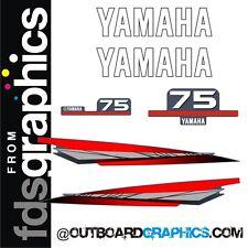 Motor Fuera De Borda Yamaha 75hp kit de gráficos/Sticker
