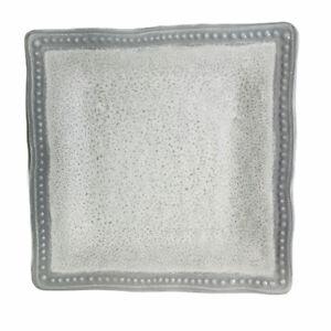 "Secret Celebrity Gray Hobnail Square Melamine 11"" Dinner Plates Set of 2"