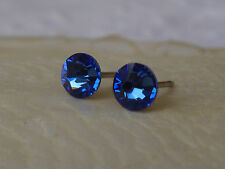 Genuine Austrian Crystal Surgical Stainless Steel Studs 4.8mm ~ Sapphire