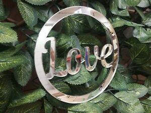 Personalised Any Name MIRROR Hoop Acrylic Wreath Circle Loop