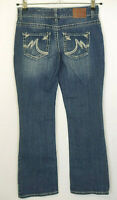 Maurices Womens Jeans Size 1/2 Short Curvy Distressed Bootcut Medium Wash